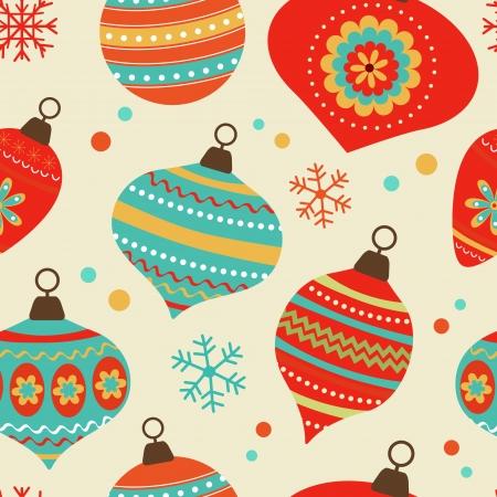 christmas seamless pattern: Colorful christmas balls seamless pattern