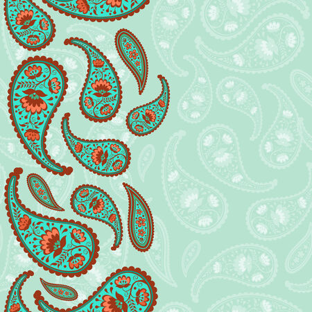 Oriental paisley seamless background Vector