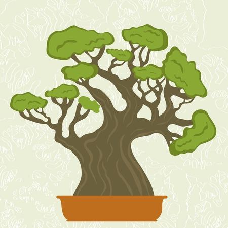 Illustration of a bonsai tree Stock Illustratie