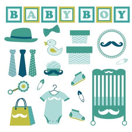 noeud papillon: Collection colorée de bébé mignon Illustration