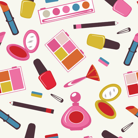 Colorful make up  seamless pattern Vector