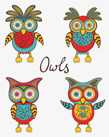 gift basket: A cute colorful owls set