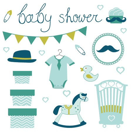 bodysuit: Little man baby shower related items collection