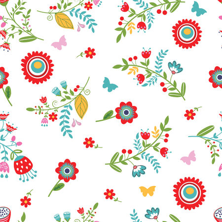 Elegant floral seamless background. Vector illustration Vector
