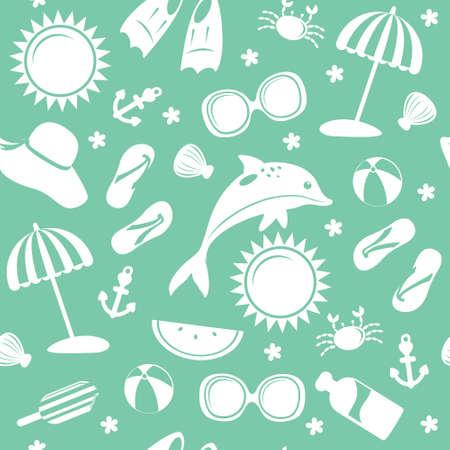 Seamless summer pattern monochrome. vector illustration Stock Vector - 28921201
