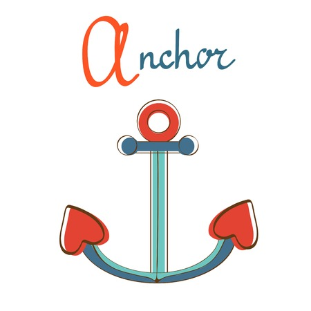A is for anchor illustration Vector