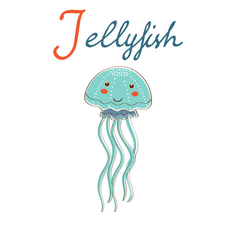 Illustration of J is for Jellyfish Vector