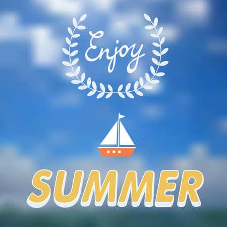 holydays: Enjoy summer vector typography. Summer holydays message for your design Illustration