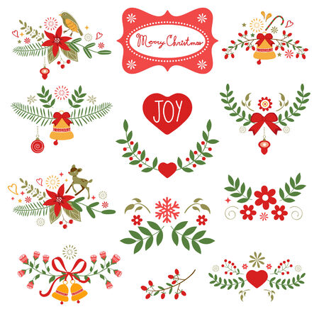 Colorful Christmas banners. Ideal for invitations and Christmas cards Vector