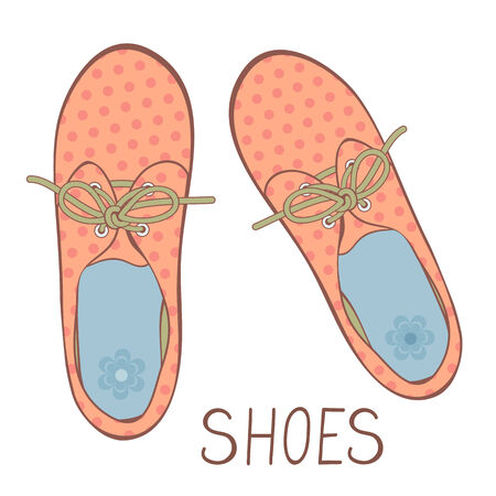 Illustration of beautiful girl shoes in vector format Vector