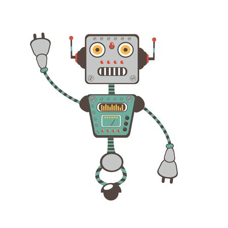 computer program: Colorful  illustration of robot character in vector format Illustration