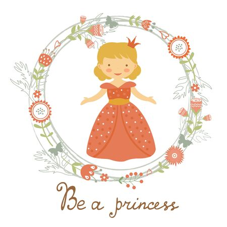 little princess: Be a princess card with adorable little princess. vector illustration Illustration