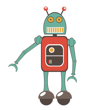 character illustration: Colorful robot character illustration in vector format Illustration