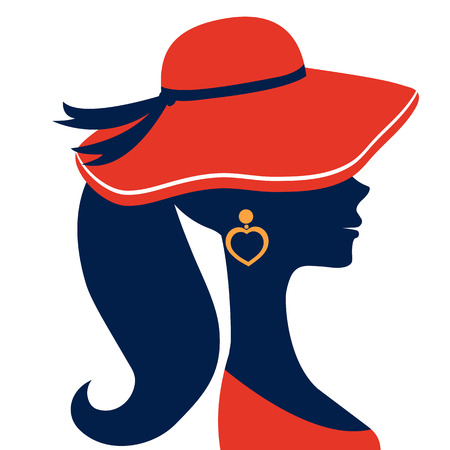 siluetas de mujeres: Silueta hermosa mujer elegante en formato vectorial