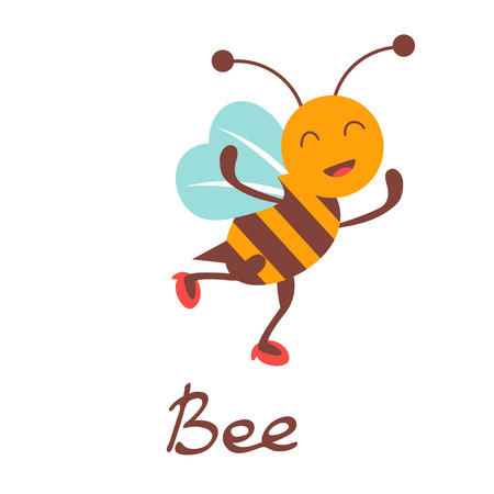 character illustration: Cute colorfulbee character illustration in vector format Illustration