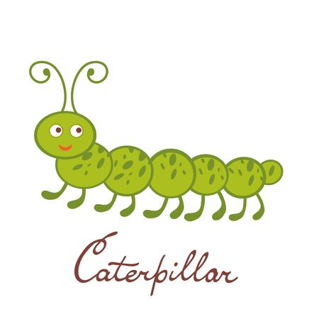 caterpillar: Cute colorful caterpillar character illustration in vector format