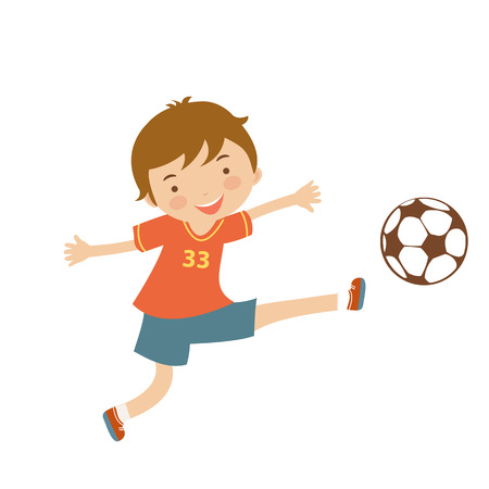 Cute football player illustration in vector format
