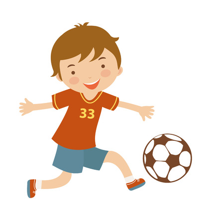 rehearsal: Cute football player illustration in vector format