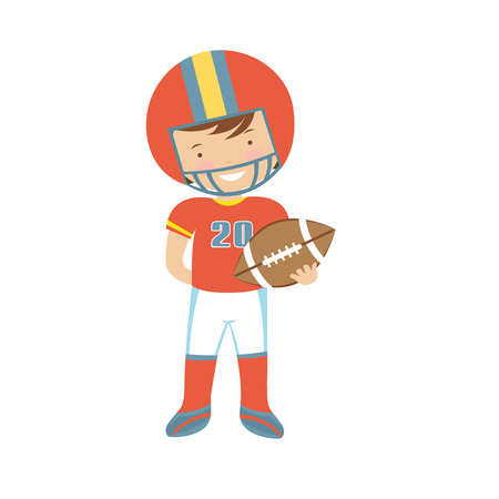 action sports: American Football player character illustration in vector format Illustration