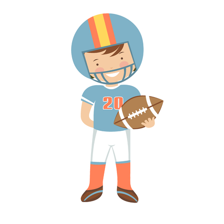 huddle: American Football player character illustration in vector format Illustration