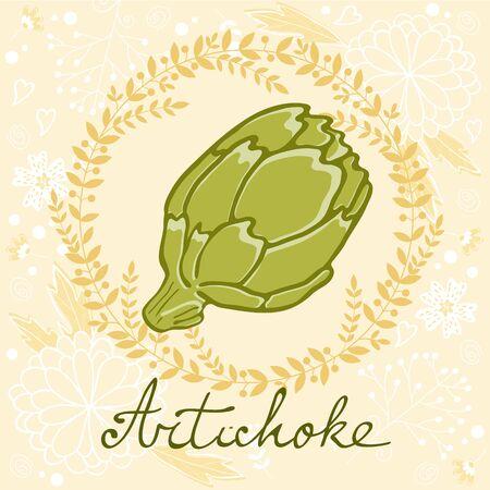 artichoke: A colorful illustration of fresh artichoke. vector illustration