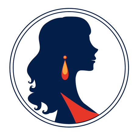 chic: Beautiful  elegant woman silhouette in vector format