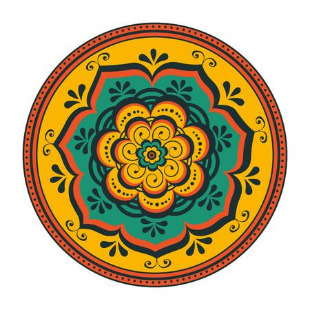 feestelijk: Mooie ronde ornament. Illustratie in vector-formaat