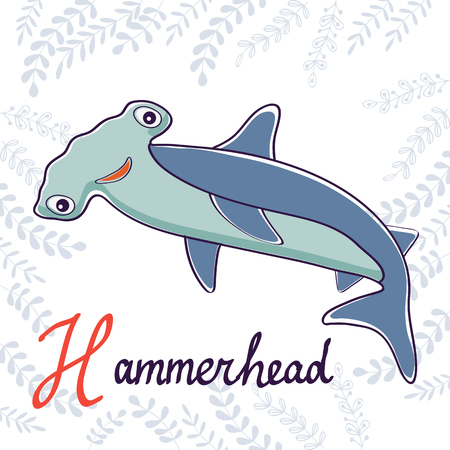 hammerhead: Illustration of H is for Hammerhead. Vector format Illustration