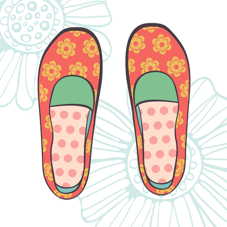 fashionable girl: An illustration of fashionable girl shoes in vector format Illustration