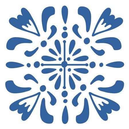 colorful Portuguese azulejo tile. illustration in vector format