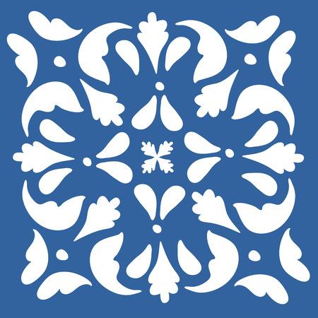 arabesque pattern: colorful Portuguese azulejo tile. illustration in vector format