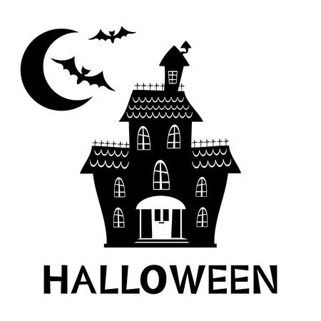 Halloween spookhuis kaart. Vector-formaat illustratie
