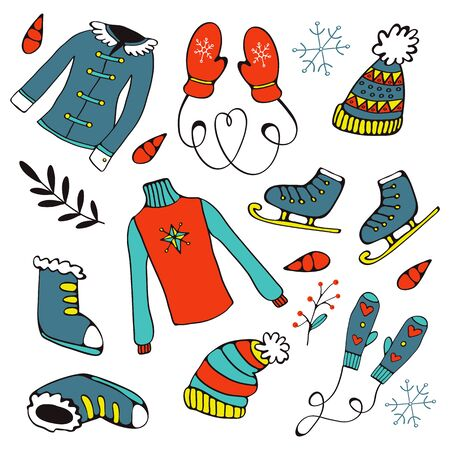 boots: Colorful hand drawn winter collection