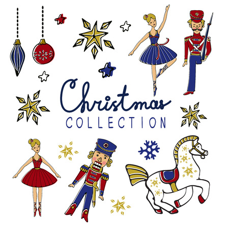 Amazing Christmas collection. A set of Christmas elements