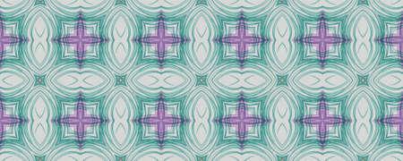 Hand Drawn Geometrical Pattern. Hand Garden Patchwork Illustration. Background Hand Drawn Geometrical Pattern. Geometric Ikat Latino Banner. Grunge Daisy Symmetry Stockfoto