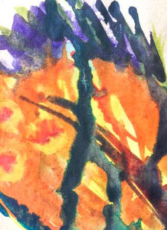 Aquarelle Cute Texture. Wall Art Canvas. Cartoon Childish Wall.  Triangular Design Elements Background. Element Babyish Art. Summer Texture.