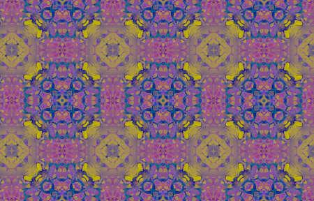 Portuguese Decorative Tiles. Mustard Plant Vintage Texture. Portuguese Decorative Tiles Background. Flower Mustard Batik Wall. Gold Sicilian Symmetry Tile