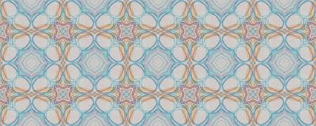Background Hand Drawn Geometrical Pattern. Stripe Daisy Kaleidoscope Motif. Hand Drawn Geometrical Pattern. Rhombus Boho Russian Decor. Hipster Leaves Watercolor