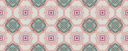 Background Hand Drawn Geometrical Pattern. Line Spring Graphic Design. Hand Drawn Geometrical Pattern. Repeat Chevron Indian Wall. Cartoon Floral Embroidery Stockfoto
