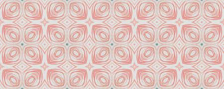 Background Hand Drawn Geometrical Pattern. Drawn Spring Patchwork Surface. Hand Drawn Geometrical Pattern. Graphic Batik Turkey Style. Trendy Leaves Watercolor Archivio Fotografico - 150611133
