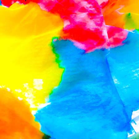 Dirty Art Tie-dye Texture. Indian Ikat. Watercolor Vintage Textile. Dye Background Print. Ethnic Illustration. Paintbrush Vintage Design. Watercolor Artwork. Archivio Fotografico - 150611135