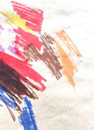 Wall Art Canvas. Grunge Children Drawing.  Chalk Hipster Wall. Triangular Design Elements Background. Messy Child Artwork. Graphic Card. 免版税图像
