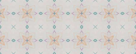 Background Hand Drawn Geometrical Pattern. Simple Spring Ornate Motif. Hand Drawn Geometrical Pattern. Square Faience Eastern Print. Modern Spring Mandala