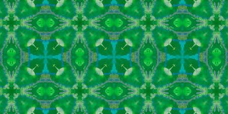 Hand Drawn Geometrical Pattern. Drawn Autumn Watercolor Texture. Background Hand Drawn Geometrical Pattern. Striped Kilim Russian Backdrop. Graphic Leaves Kaleidoscope Archivio Fotografico