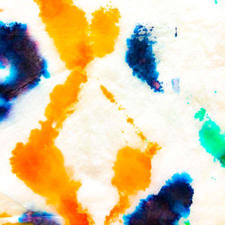 Vivid Aquarelle Design. Indian Ikat. Aquarelle Creative Illustration. Dye Background Print. Kilim Textile. Alcohol Ink Creative Pattern. Tie-dye Illustration. Archivio Fotografico - 150609955