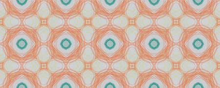 Geometrical Pattern. Simple Flora Azulejo Textile. Background  Geometrical Pattern. Square Ethnic Turkish Decor. Funky Spring Mandala