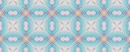 Hand Geometrical Pattern. Graphic Natural Graphic Style. Background  Geometrical Pattern. Seamless Ikat Italian Wall.  Summer Mosaic Archivio Fotografico - 150625660