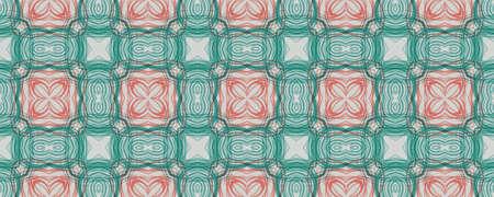 Portuguese Decorative Tiles. Aztec Symmetry Pattern. Portuguese Decorative Tiles Background. Portuguese Line Backdrop. Aquarelle Square Boho Illustration. Stripe Stockfoto