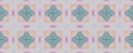 Portuguese Decorative Tiles. Boho Mosaic Wall. Portuguese Decorative Tiles Background. Islamic Hand Pattern. Ink Ornate Batik Illustration. Simple 写真素材