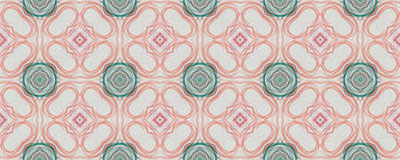 Hand Drawn Geometrical Pattern. Hand Hawaii Mosaic Textile. Background Hand Drawn Geometrical Pattern. Rhombus Faience Latino Illustration. Contemporary Natural Square